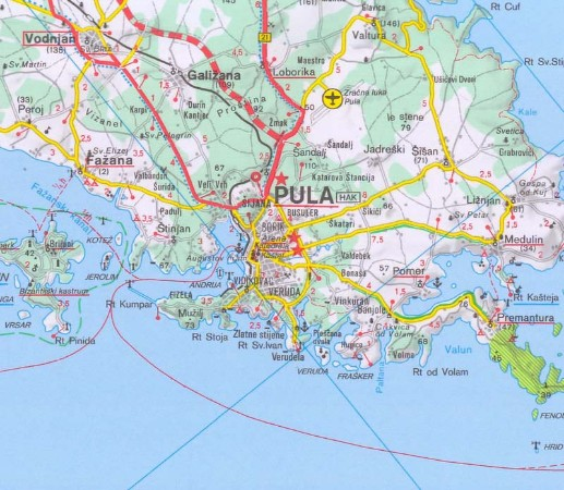 Pula, click for an interactive map
